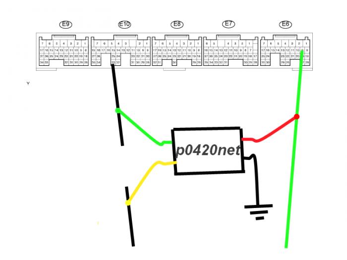 эмулятор катализатора p0420 лексус 350
